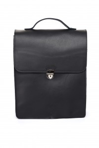 Leather backpack 'CUCKOO' black grain leather