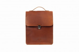 Leather backpack 'CUCKOO' brown grain leather